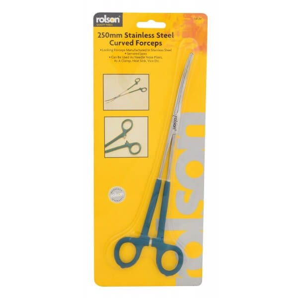 Rolson 250mm Curved Forceps