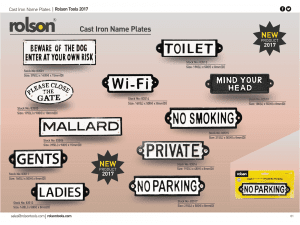 Cast Iron Name Plates 2017